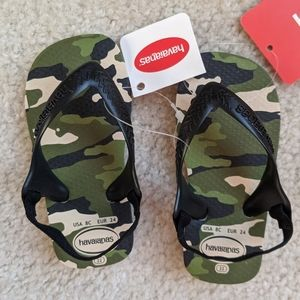 New With Tags Camouflage Havaianas Baby Sandals